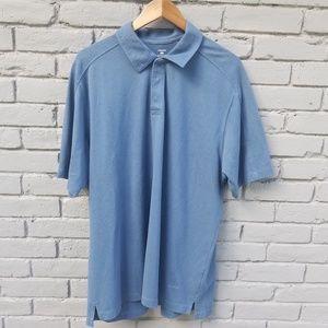 Patagonia Snap Button Polo Shirt - Blue - XL